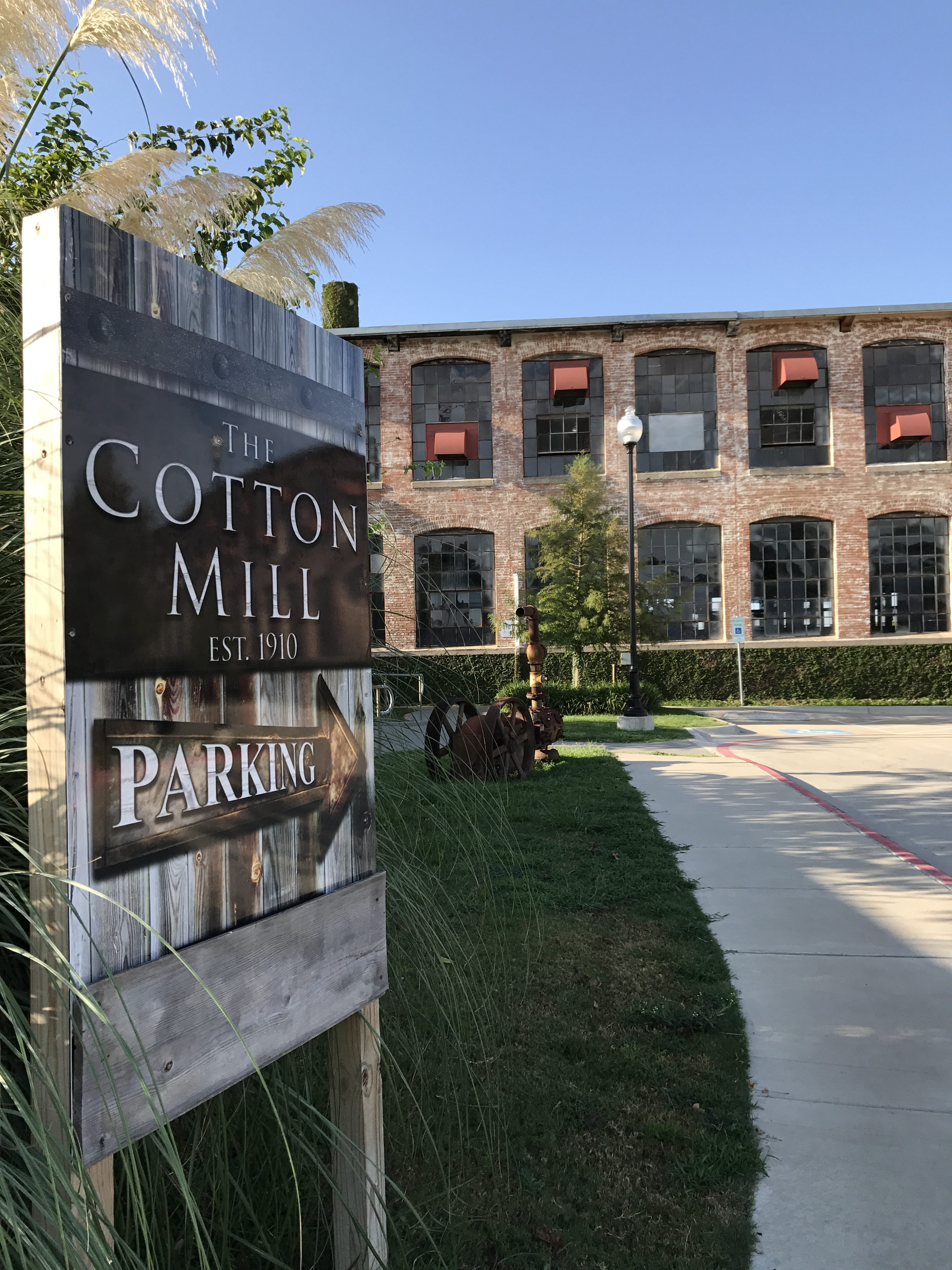 The Cotton Mill event venue is located in McKinney Texas